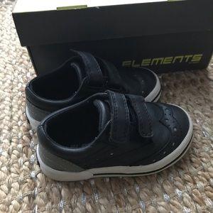 Elements Black Velcro Toddler Boy Shoes
